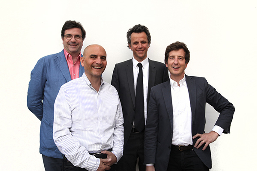 L-R: Carlo D'Asaro Biondo, president of Southern & Eastern Europe, Middle East and Africa operations, Google; Lou Cona, chief revenue officer of Condé Nast and president, Condé Nast Media Group; Sadoun; Georges-Picot