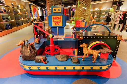 MCM builds giant playground in Shanghai flagship store