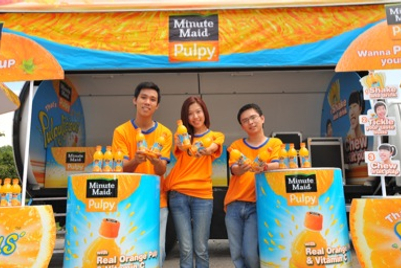 Coca-Cola launches sampling campaign for Minute Maid in Singapore