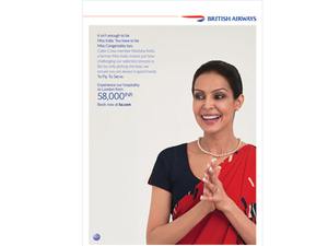 Former Miss India helps promote her current employer British Airways