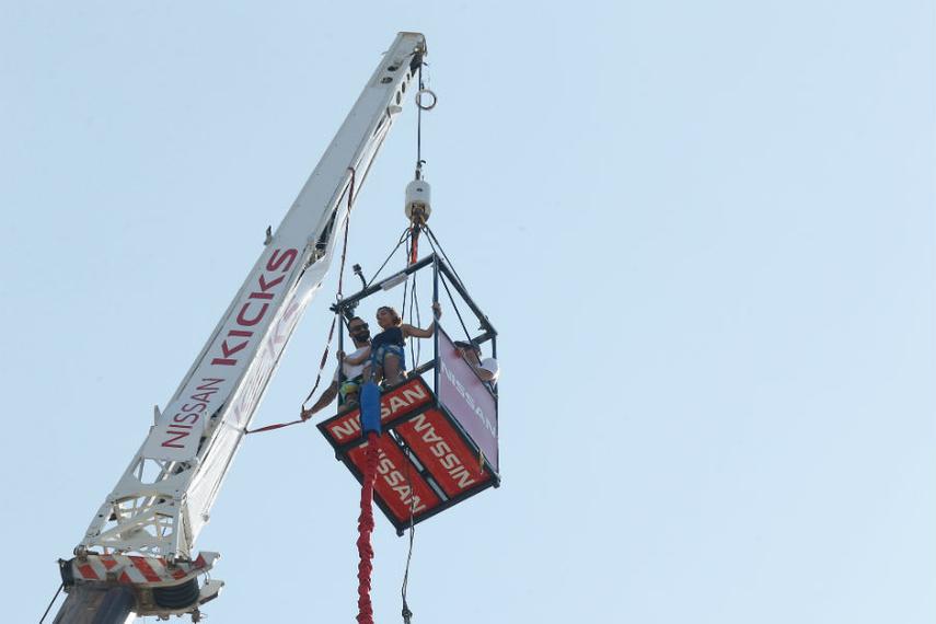 Nissan's bungee jump in Rio (source: Momentum Worldwide)