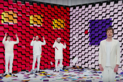 Double A and OK Go make paper the star in a feat of technical wizardry
