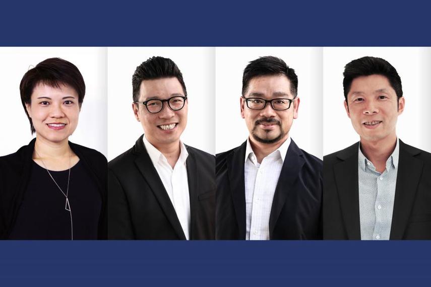 Florence Wong, Derek Yip, Gary Wong and Clement Chung.