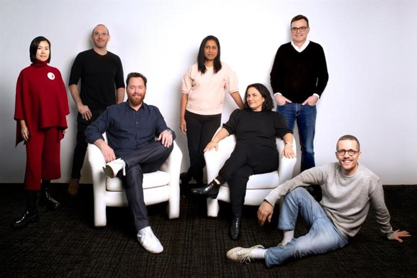 L-R: WeiWei Dong, Isaac Silverglate, Jeff Curry, Della Mathew, Renata Florio, John Long, Bastien Baumann.