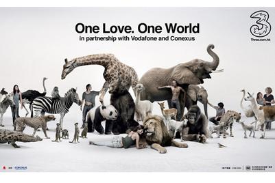 Telecom provider 3 launches 'One love, one world' thematic campaign