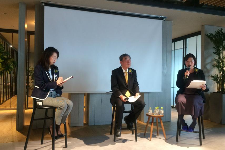 From left: Kieko Mori, Momentum; Akira Matsumoto, Rizap; Kaori Fujiwara, Calbee