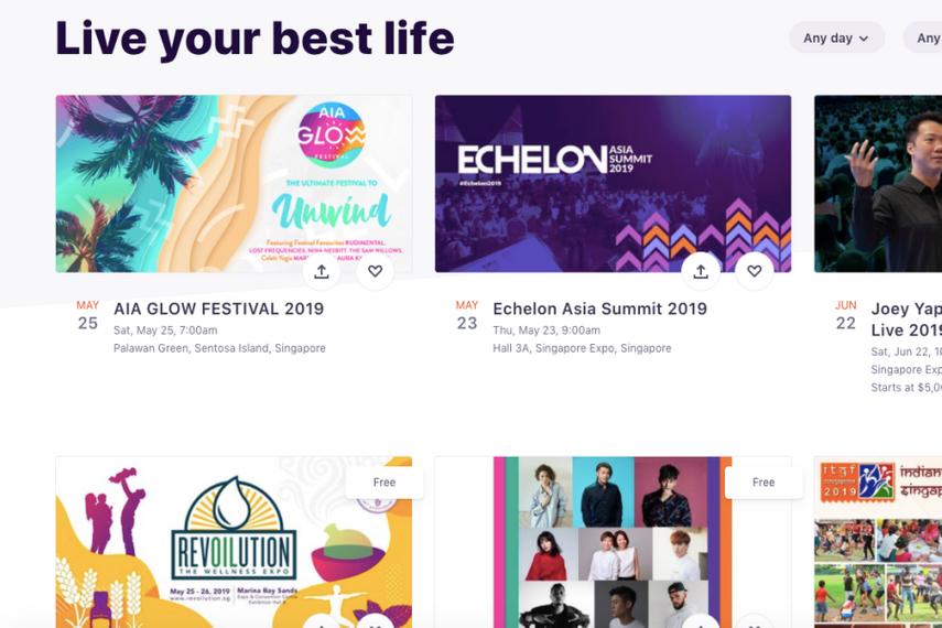 A screenshot of eventbrite.hk