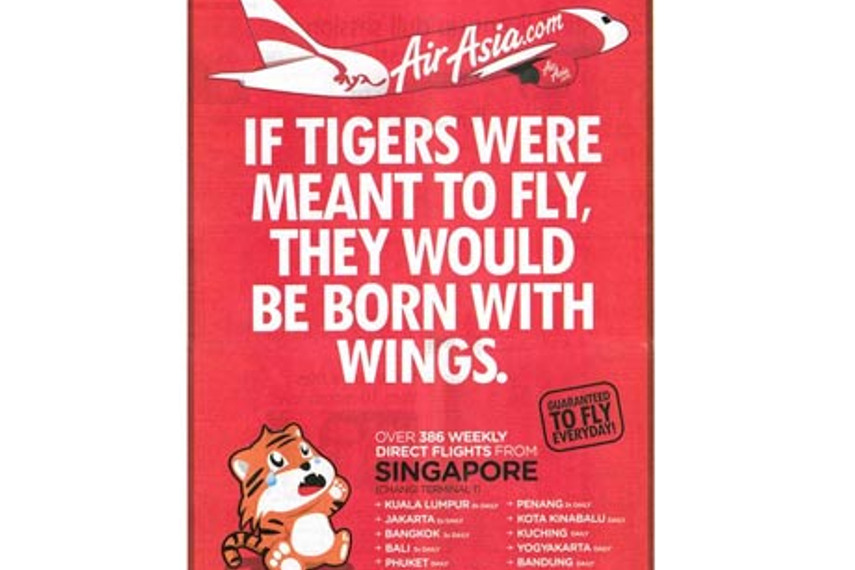 Air Asia throws another creative punch at rival Tiger Airways