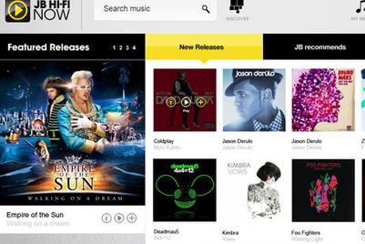 Visual Jazz and JB Hi-Fi launch online music service for Australia