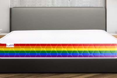 Company claims Pride mattress 'supports' the community (Groan)