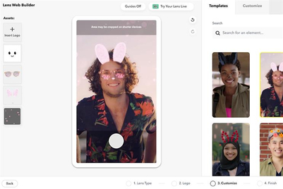 Snapchat launches DIY augmented reality production tool Lens Web Builder