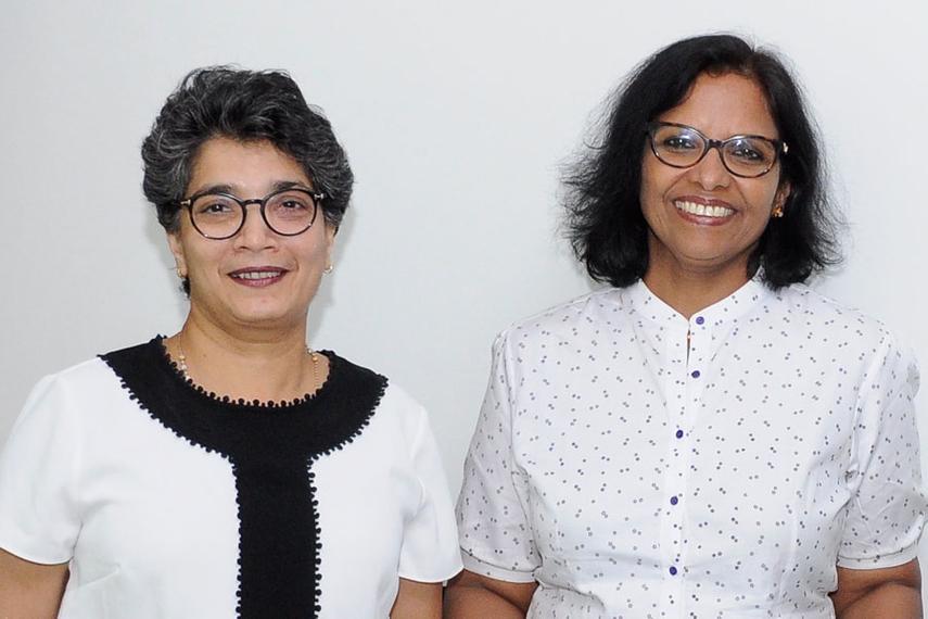 L-R: Sangeeta Barde, Susan Josi