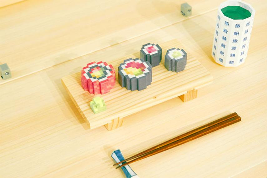Dentsu envisages sending printable food data around the world and beyond.