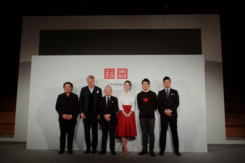 From left: John Jay, Brad Cloepfil, Tadashi Yanai, Nozomi Sasaki, Rei Inamoto, Dai Tanaka