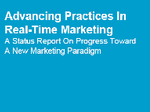 Advancing Practices In Real-Time Marketing