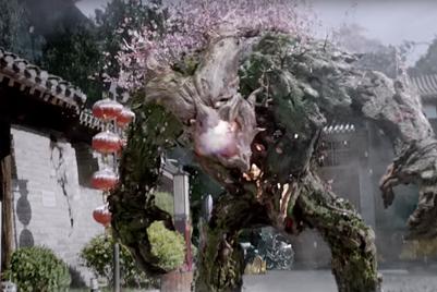 作品:iPhone X新广告,与游戏怪兽激战中国街头