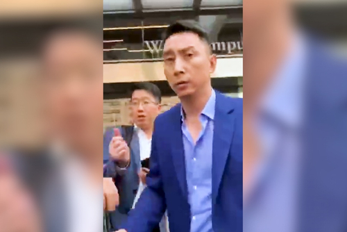 杭州探索传媒堵载群邑媒体投资谈判人员,冲突视频流出