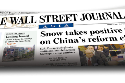 Wall Street Journal to stop print in Singapore along with Hong Kong