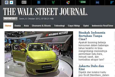 WSJ launches Bahasa Indonesia website