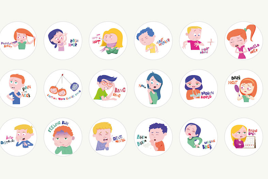 WeChat India's Health Stickers