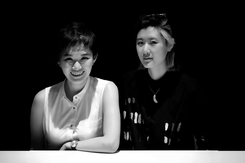 L-R: Wenqi Du, Anqi Jiang