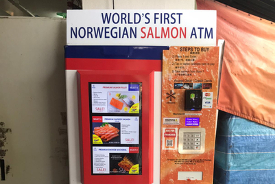 Here's a 'world first' salmon ATM you never knew you needed
