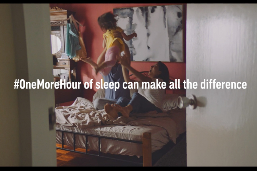 New work through BBDO Singapore highlights the positive impact of getting just one more hour of shuteye.