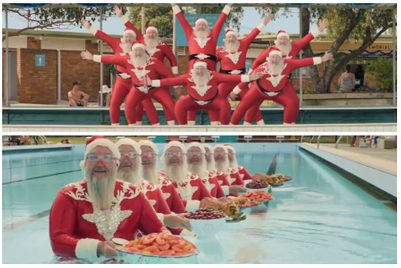 Can these synchronised-swimming Santas save Christmas?