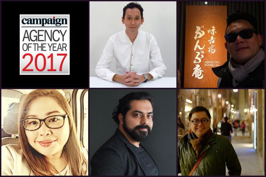 Clockwise from top middle: Amir Hamzah, Casey Loh, Ronald Barreiro, Anish Daryani, Anna Chua-Norbert
