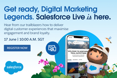 Salesforce Live: Asia promises inspiring sessions on how marketers can thrive in a digital, always-on world