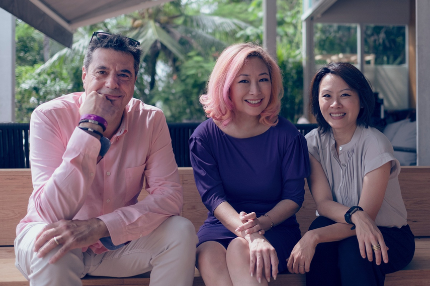 R-L: Kelly Pon, Christine Ng, Arto Hampartsoumian (chairman of BBH China)
