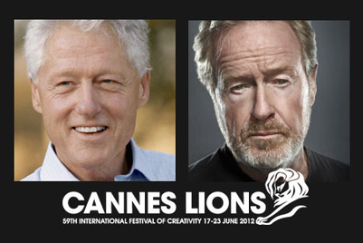 Bill Clinton and Ridley Scott to speak at Cannes Lions