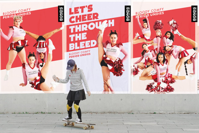 Bonds deploys 'cheer bleeder' squad to demo 'bloody comfy' period undies