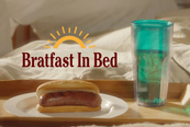 What dad wouldn't love 'Bratfest in bed'?