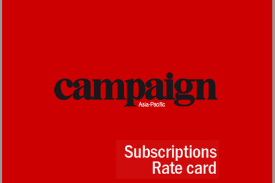 Campaign Asia-Pacific subscriptions rate card