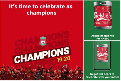 Jubilant Liverpool fans in Malaysia can 'adopt a keg' of Carlsberg