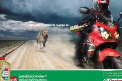 New Castrol TVC pits motorbike versus cheetah