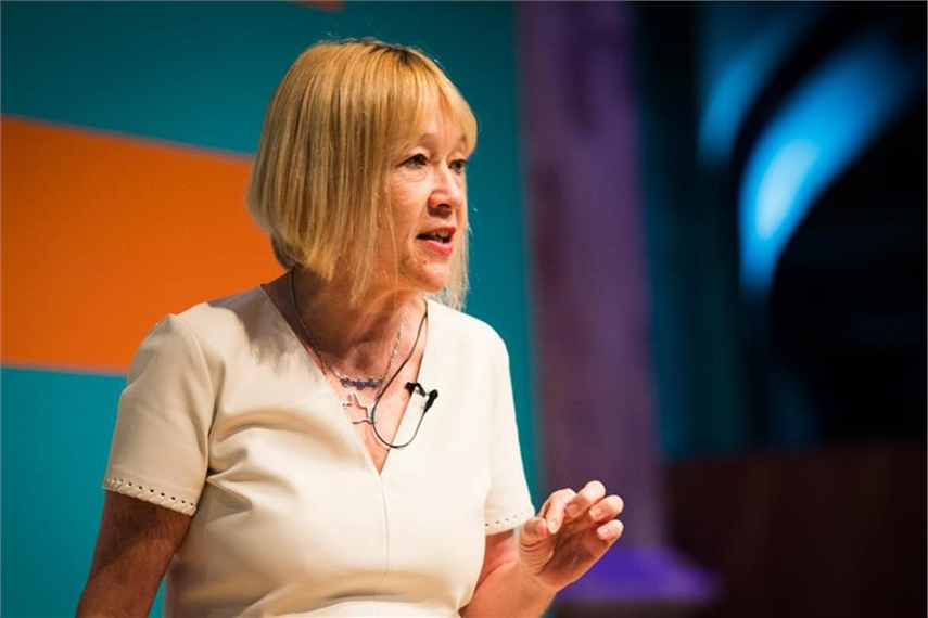 Cindy Gallop at a conference in London this year. [Photo: Bronac McNeill]