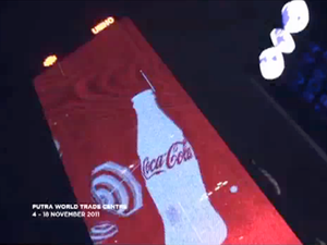 Coca-Cola lights up Malaysia's largest billboard