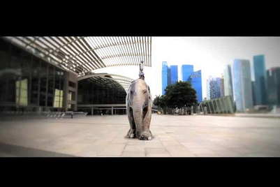 Grey supports Elephant Parade Singapore