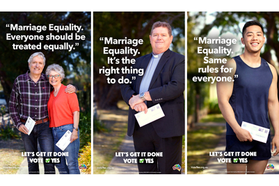 Ads ask Australia to 'get it done' on marriage equality