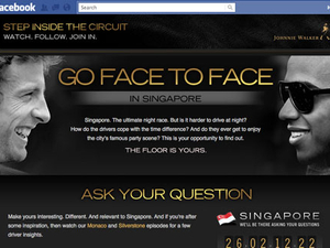 Johnnie Walker rolls out 'Face-to-face' installment of Formula 1 campaign