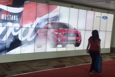 Mustang growls, blows hair back in Indian airports