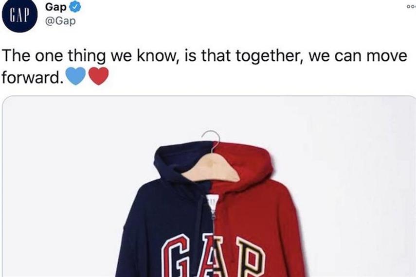 Twitter fail: Gap deletes political hoodie tweet after backlash