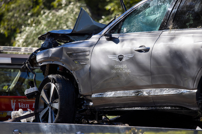 Officials praised the Hyundai Genesis' safety features for saving Tiger Woods' life. (Photo credit: Getty Images).