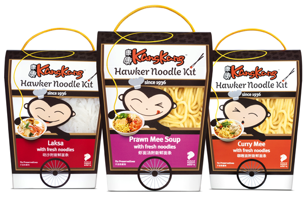 Noodle monkey: Package design drives hawker cart into supermarkets
