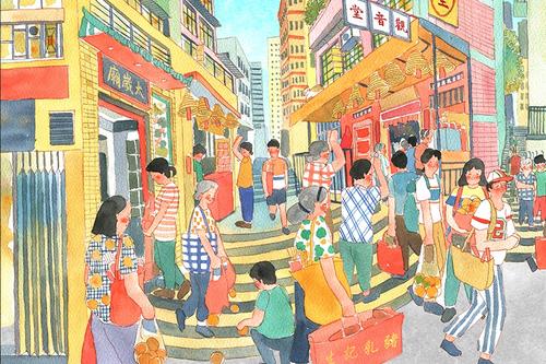 Vivid scenes from old Hong Kong