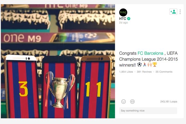 HTC makes most of FC Barcelona win through Vine