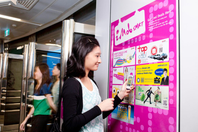 SMRT dedicates space for mobile interaction with NFC tags, QR codes