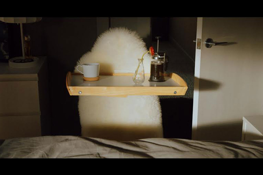 Ludde, the brand's sheepskin rug, becomes the walking, breakfast-in-bed-making star of a pair of ads out of Australia.